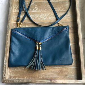Vera pelle genuine leather crossbody/wristlet